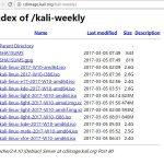 Kali每周最新版本下载地址